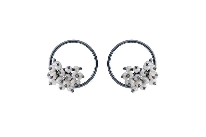 Adva Pearl small hoops