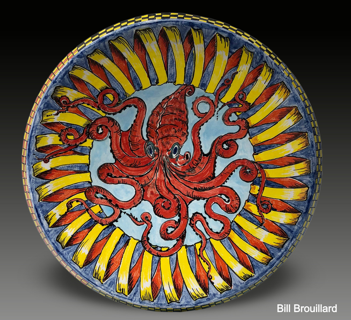 Red Octopus Platter