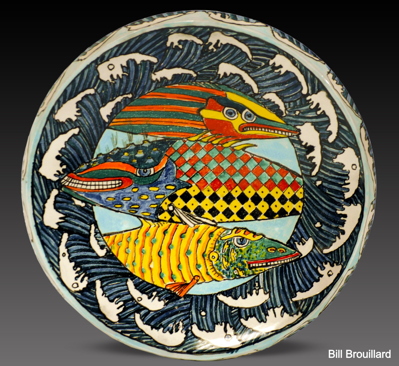 Patterned Fish Platter