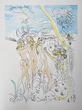 Le Jugement de Paris (Three Graces) by Salvador Dali