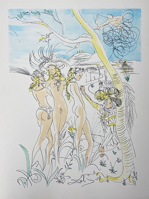 Le Jugement de Paris (Three Graces) by Salvador Dali