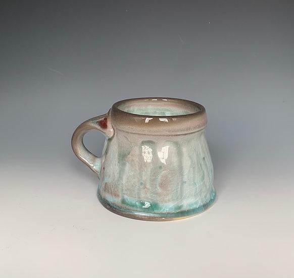 Stamped Blue and Black Mug