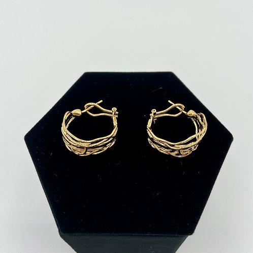 Gold Edge Hoop Earrings