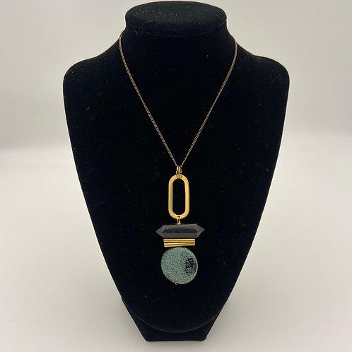 Circle Stone Necklace