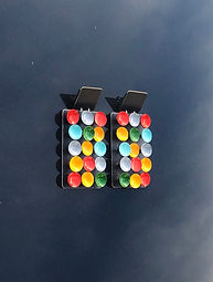 Limited Edition - Multi Color Dots Earri
