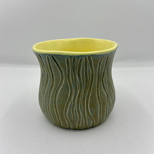 Carved Yellow Vase