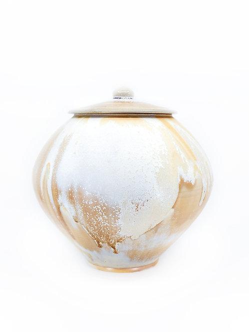 Crystal Amber Jar