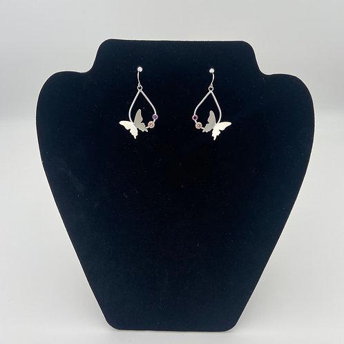 Butterfly Teardrop Earrings