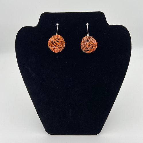 Orange Color Play Earrings