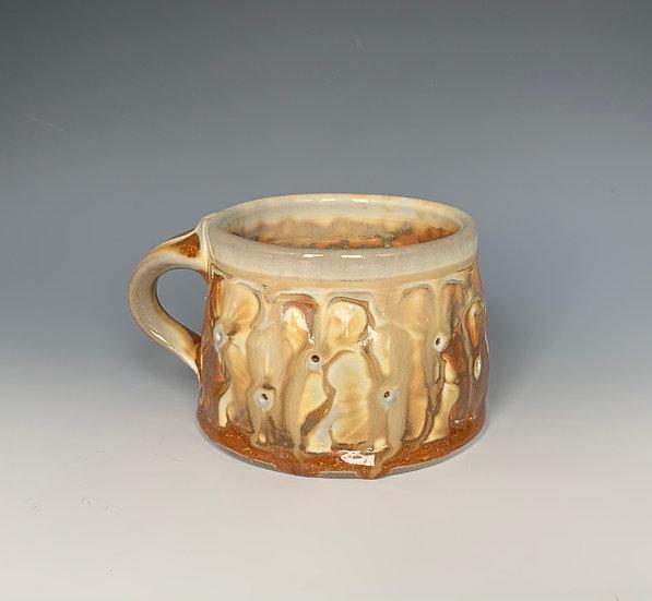 Stamped Variegated Orange Mug