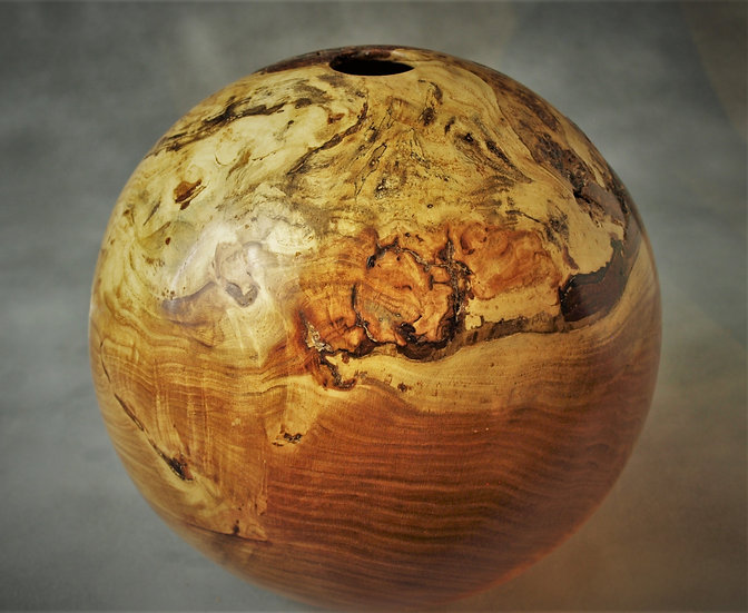 Honey Locust Burl Hollow Globe w/ Feet