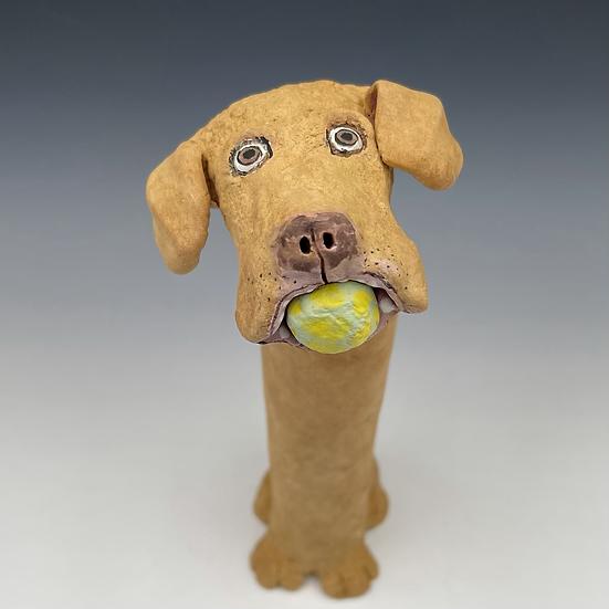 Tall Dog w/ Ball
