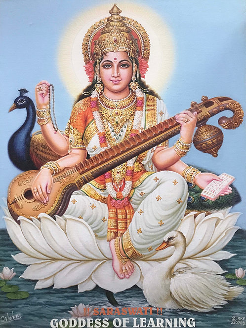 Saraswati on Canvas