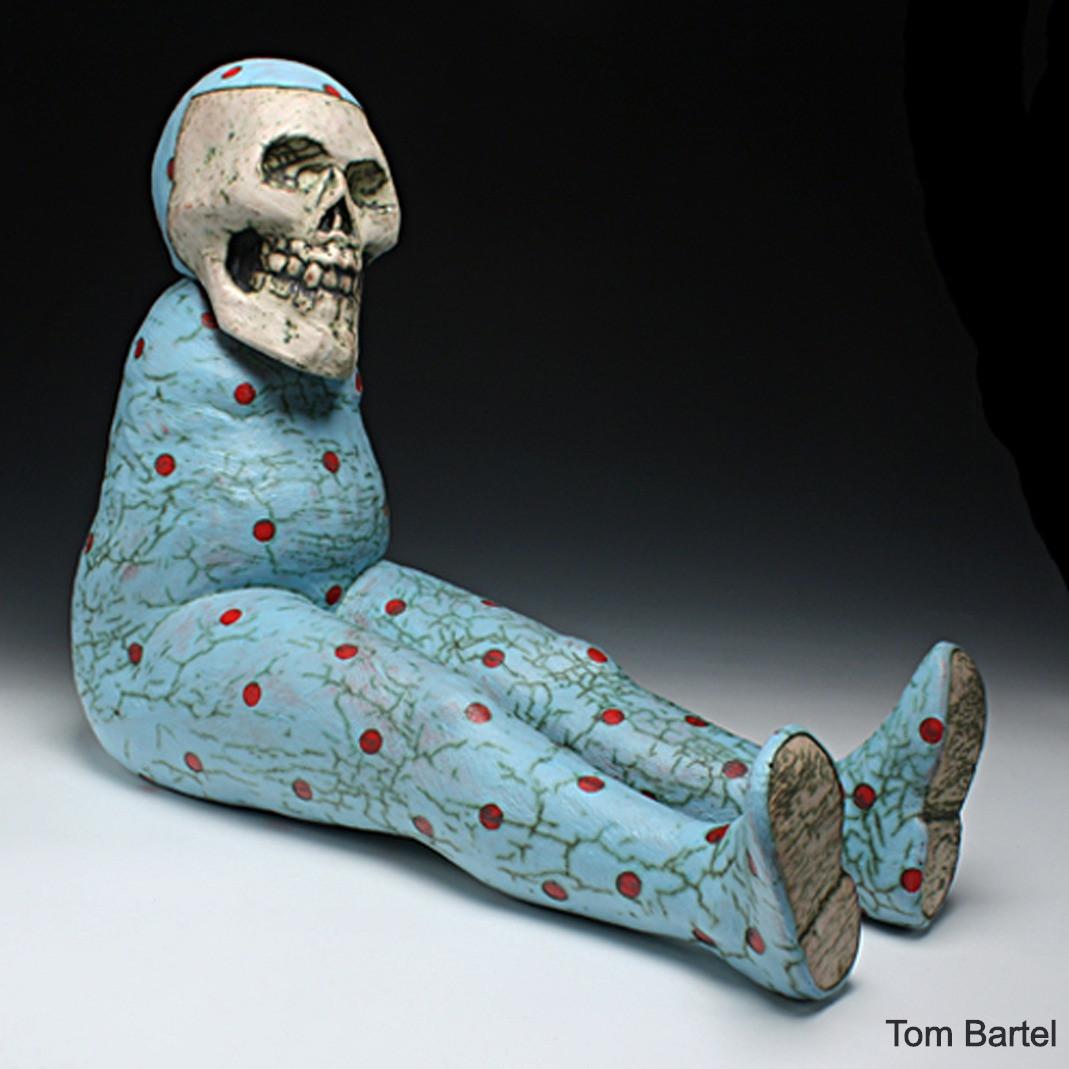 Blue Seated Figure