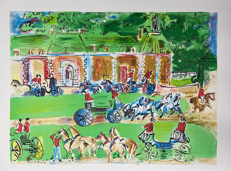 Chateau et Chevaux by Raoul Dufy