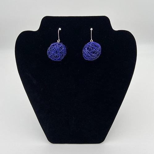 Blue Color Play Earrings