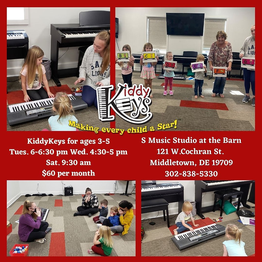 KiddyKey for ages 3-5 Tuesday 6-6_30 pm