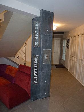 habillage poteau. Black Bedroom Furniture Sets. Home Design Ideas