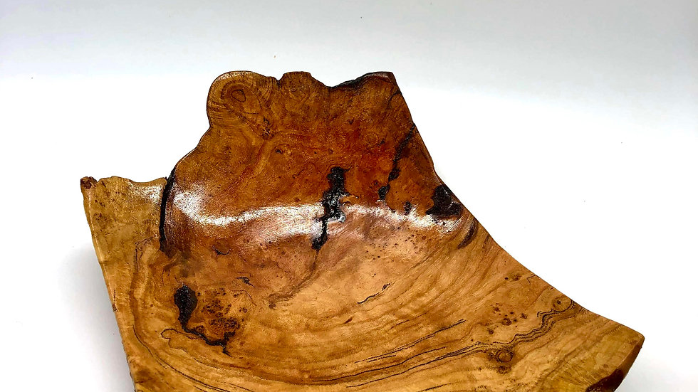 Small Burl Platter with Live Edge