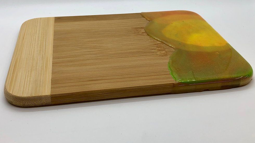 Small Charcuterie Board with Resin Design