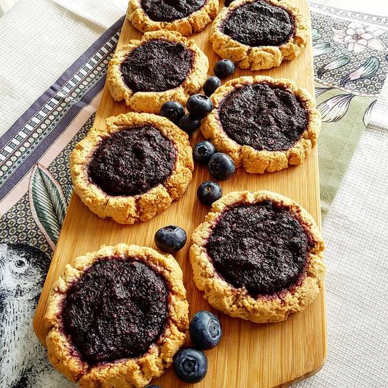Vatrushki with blueberries