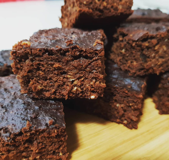 Chewy choc oats brownie