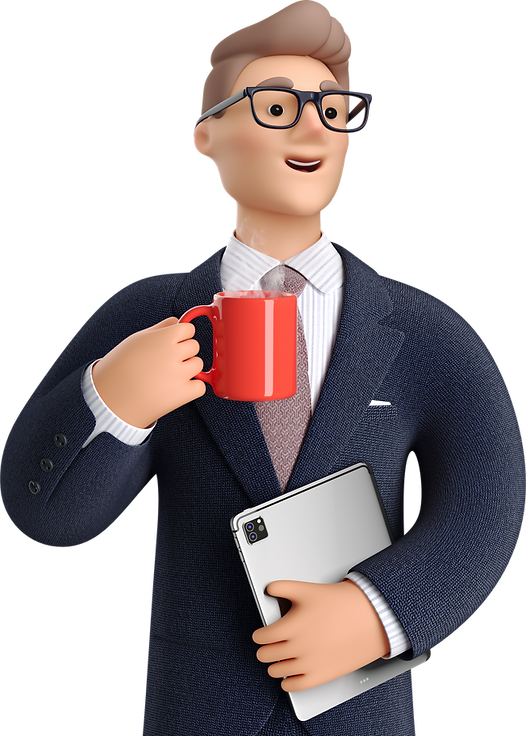 business-3d-businessman-and-coffee.png