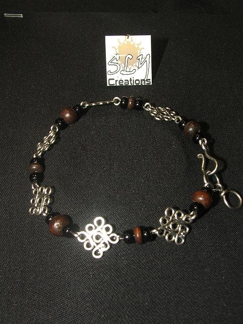 """bracelet """"arabesques"""" , bois"""