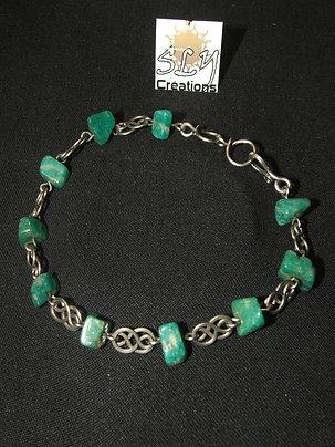 "bracelet ""mailles infinis"" , fluorite"