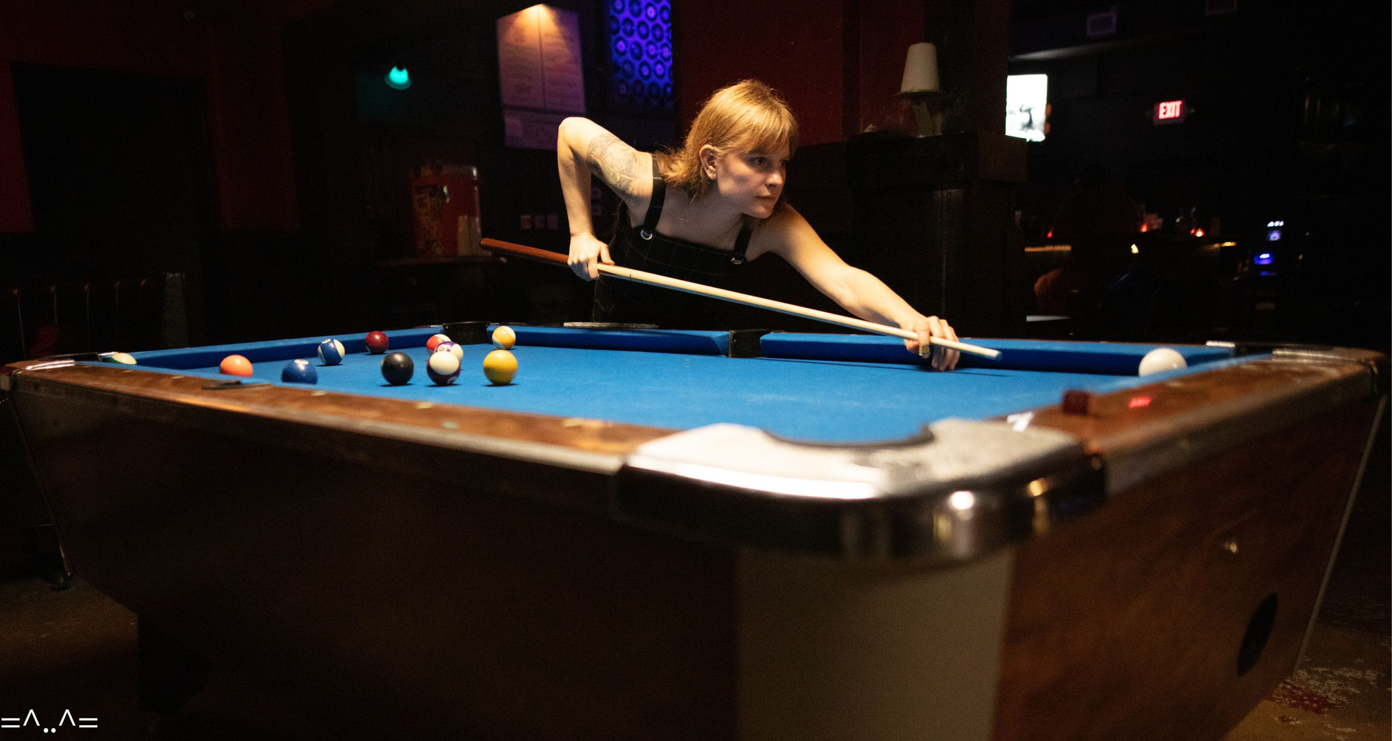Two pool tables to practice your game, with FREE pool every Tuesday!
