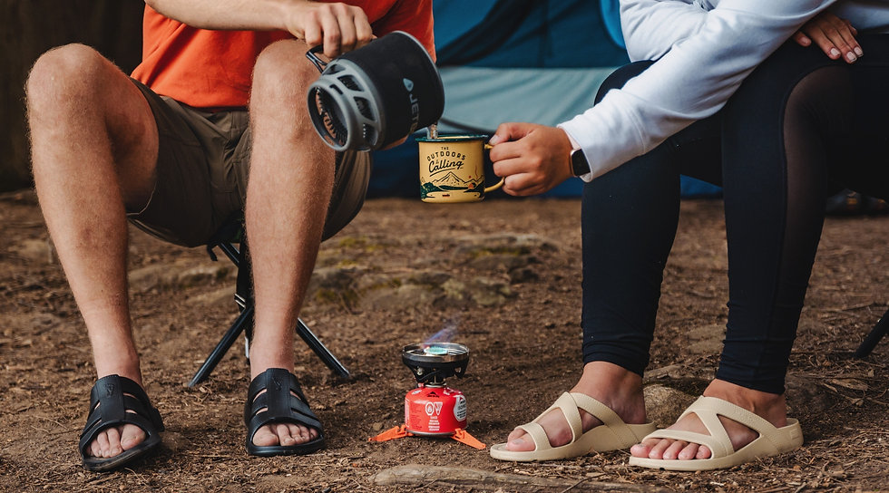 outdoor camping style nuusol footwear photoshoot campaign algonquin photography mfvisuals.ca