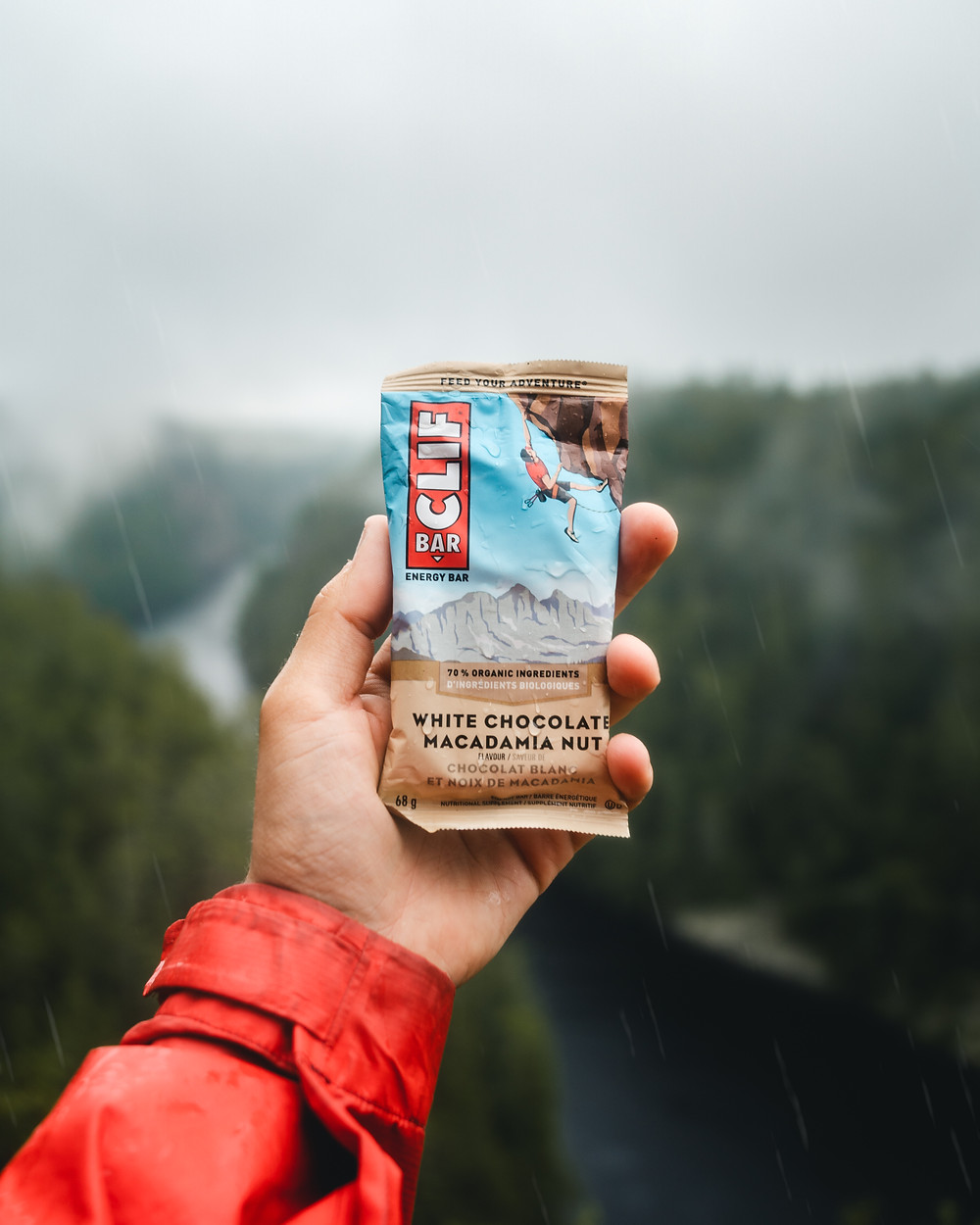 Clif bar energy barron canyon foggy mist raining camping backcountry Algonquin lifestyle photography michael frymus mfvisuals.ca