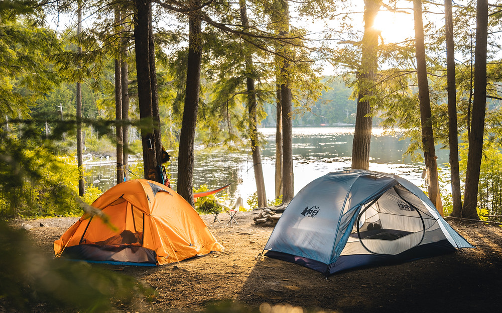 camping backcountry Algonquin lifestyle photography rei tent sunset golden hour forest lake michael frymus mfvisuals.ca