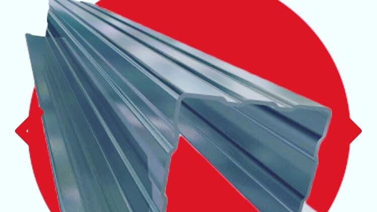 Ripa metálica em aço galvanizado para telhados ripados