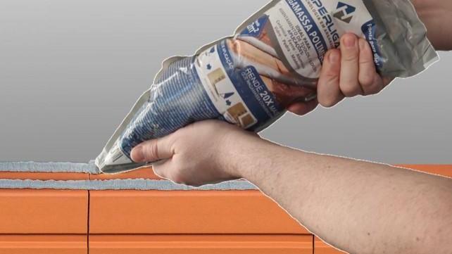 Bisnaga 3 kg de argamassa polimérica para assentamento blocos e tijolos