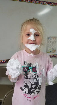Analeigh and shaving cream.jpg