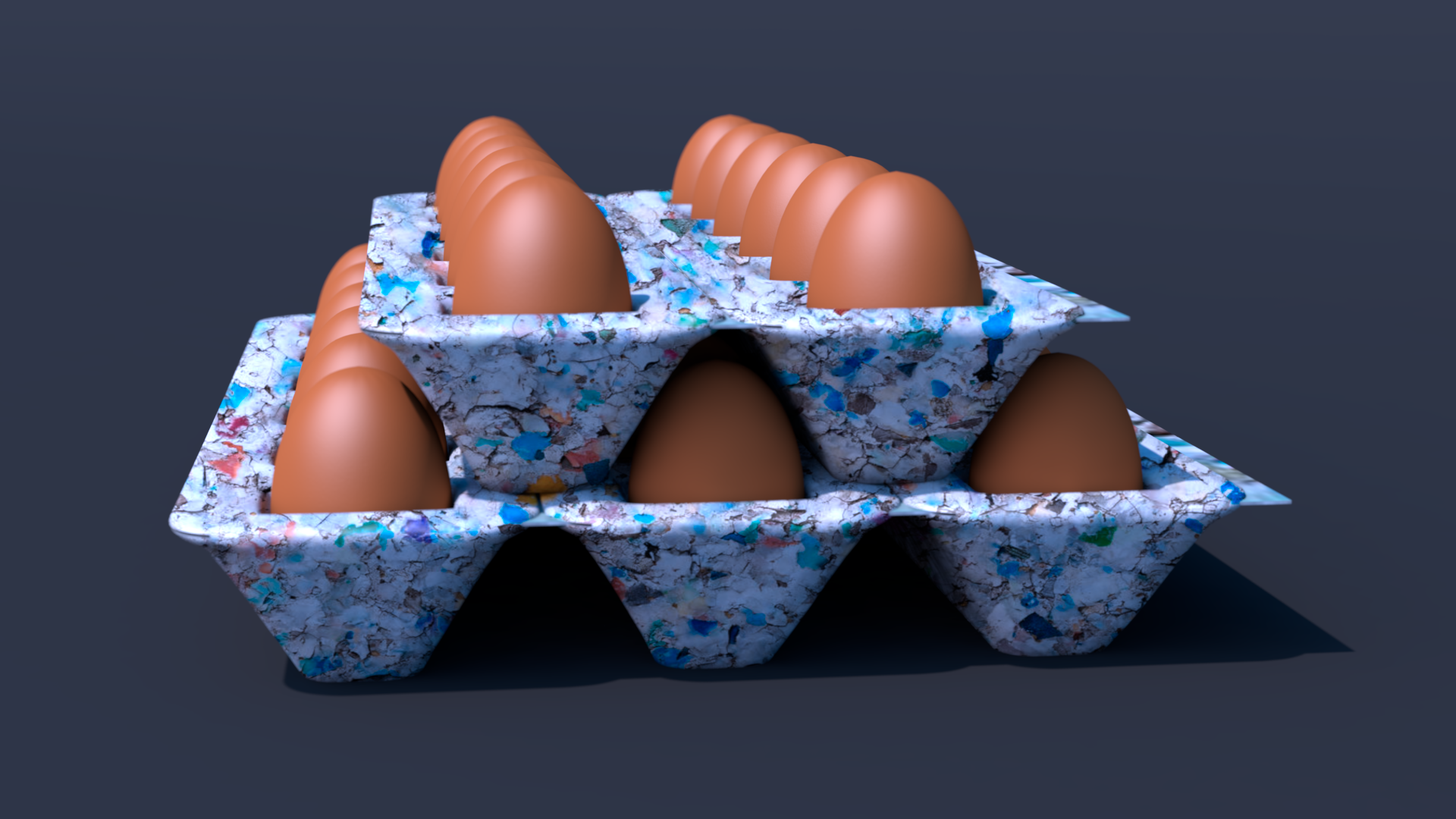 Egg Cartons Stacked