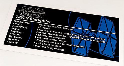Lego Star Wars UCS / MOC Sticker for TIE Fighter (Brick Vault)