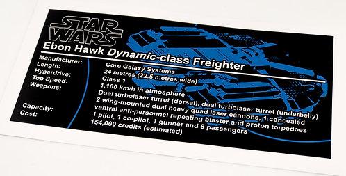 Lego Star Wars UCS / MOC Sticker for Ebon Hawk (MOC-16083)