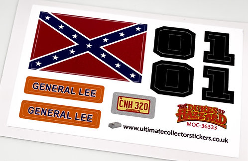 Lego Sticker Sheet for General Lee by M4rchino84 (MOC-36333)