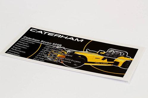 Lego Creator UCS Sticker for Caterham Seven 620R 21307