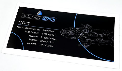 Lego Star Wars UCS / MOC Sticker for All-Out Brick Hope