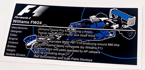Lego Technic UCS Sticker for Williams F1 Team Racer 8461
