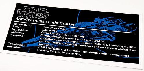 Lego Star Wars UCS / MOC Sticker for Arquitens-class Light Cruiser