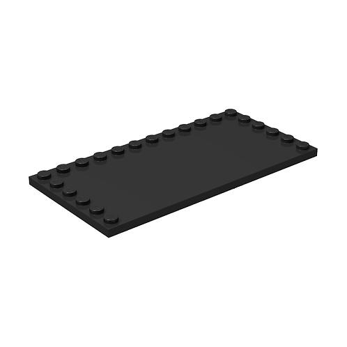 Lego Buildable Figure Sticker Plate (6178) 6x12 - Black (Genuine Lego)