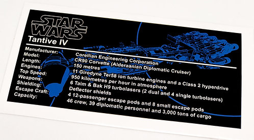Lego Star Wars UCS Sticker for Tantive 4 75244