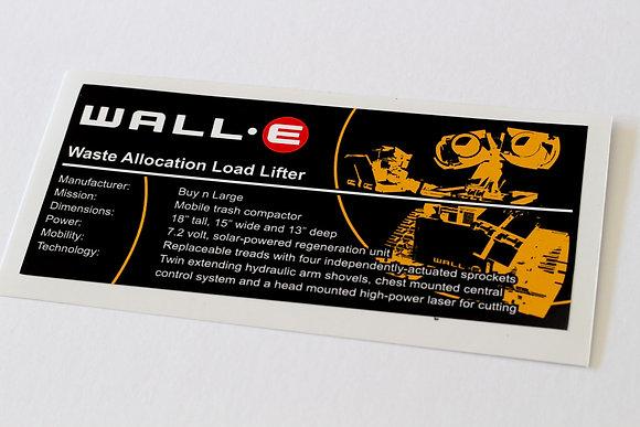 Lego Creator UCS Sticker for Wall-E 21303