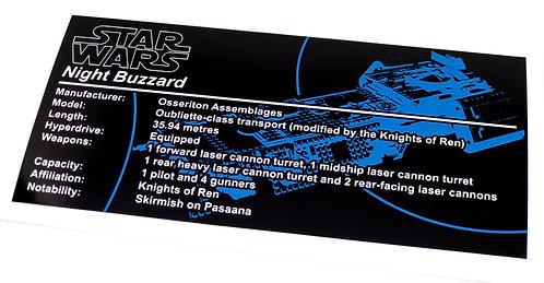 Lego Star Wars UCS / MOC Sticker for Night Buzzard 75284