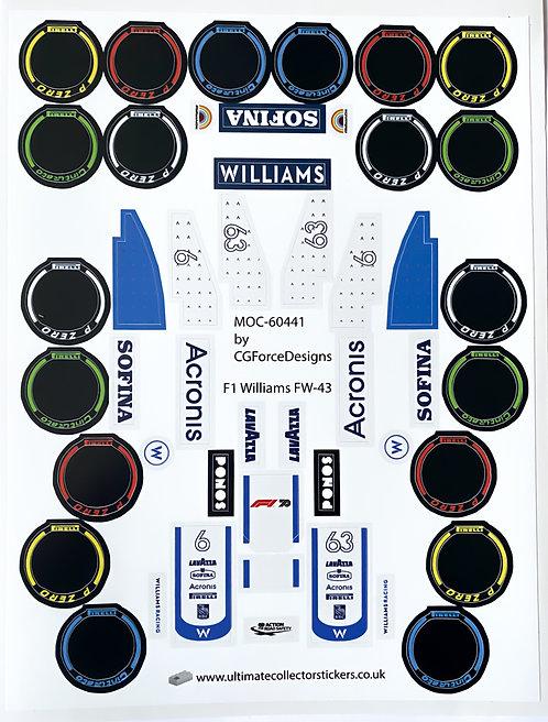 Lego Sticker Sheet for F1 Williams FW-43 by LegoCG (MOC-60441)