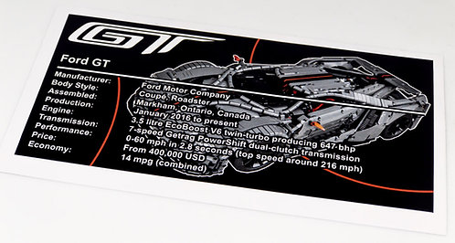 Lego Technic UCS / MOC Sticker Ford GT (MOC-10792 Custom)
